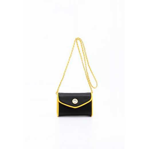 H150330-11-BLK-YGO: Eva Clutch Handbag   BLK/YGO