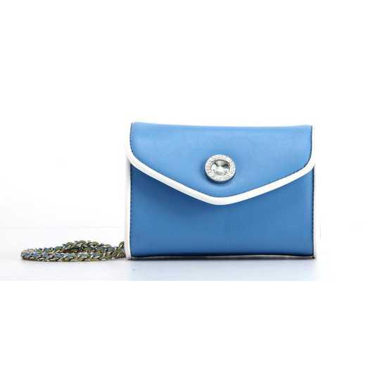 H150330-11-LTBLU-W: Eva Clutch Handbag  LTBLU/W