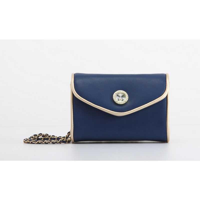 H150330-11-NBLU-GO: Eva Clutch Handbag  NBLU/GO