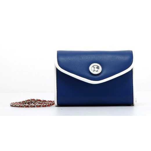H150330-11-NBLU-W-RR: Eva Clutch Handbag  NBLU/W/RR