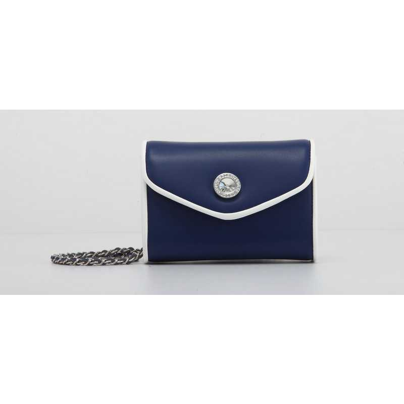 H150330-11-NBLU-W: Eva Clutch Handbag  NBLU/W