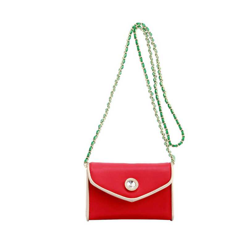 H150330-11-RR-GO-FNGR: Eva Clutch Handbag  RR/GO/FNGR