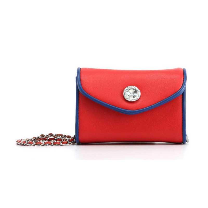 H150330-11-RR-NBLU: Eva Clutch Handbag  RR/NBLU
