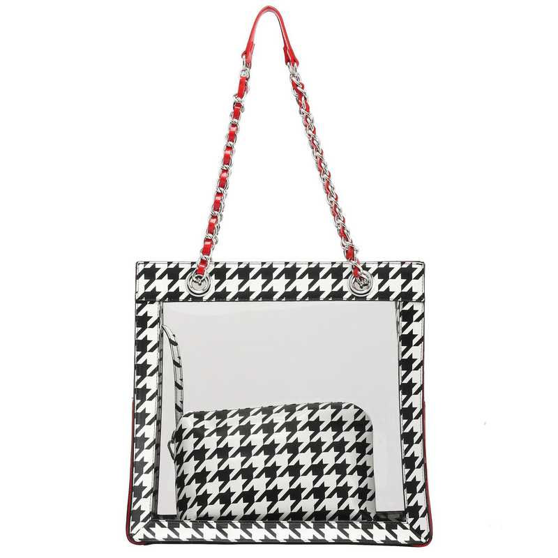 H150330-17-HT-RR: Andrea Clear Tailgate Tote -HT-RR