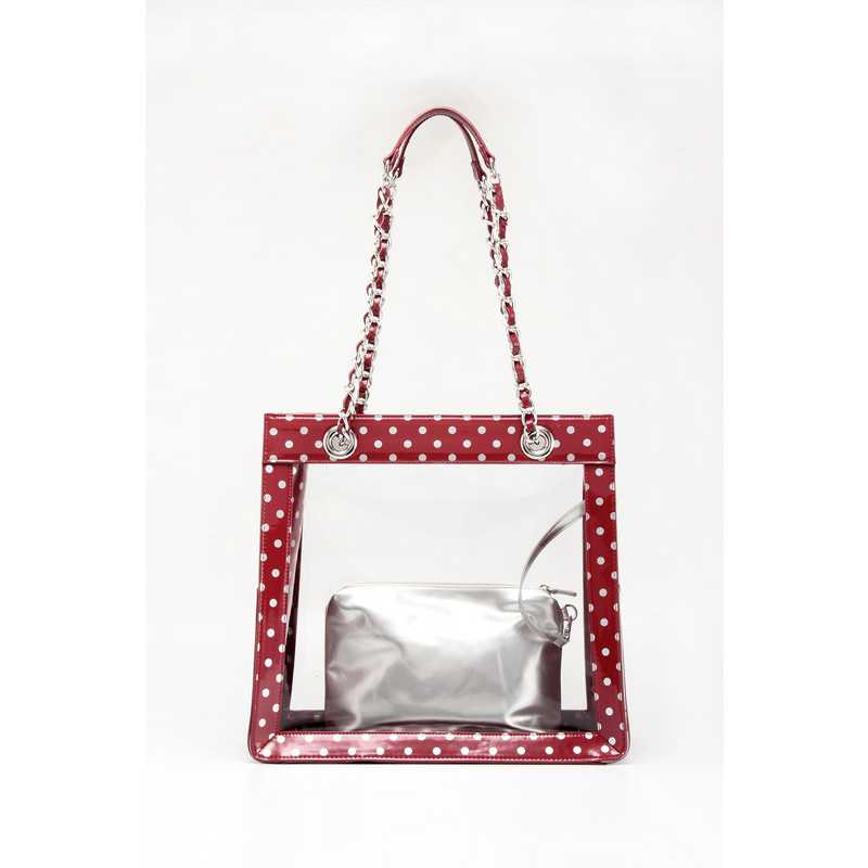 H150330-17-M-S: Andrea Clear Tailgate Tote M-S