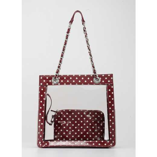 H150330-17-M-W: Andrea Clear Tailgate Tote M-W
