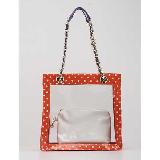 H150330-17-OR-W-RP: Andrea Clear Tailgate Tote OR-W-RP