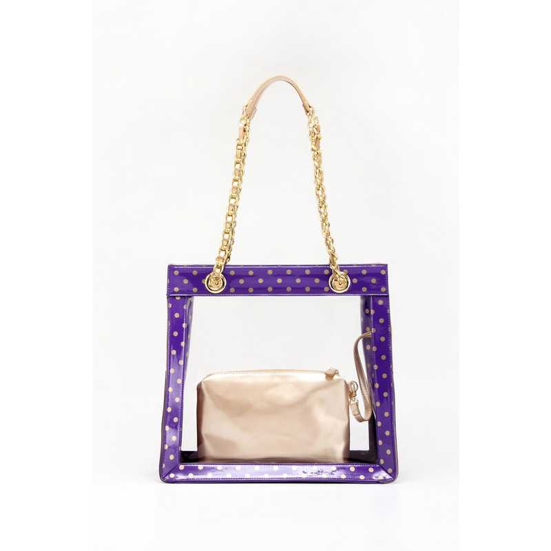 H150330-17-RP-GO: Andrea Clear Tailgate Tote RP-GO