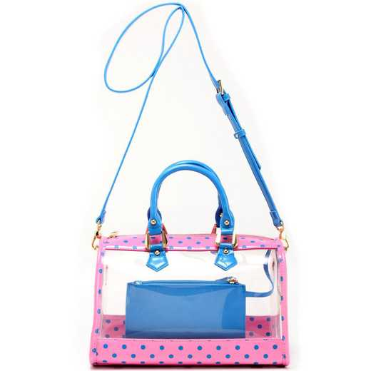 H160426-11-APK-FRBLU: Moniqua Clear Satchel -APK-FRBLU