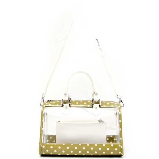 H160426-11-OLGR-W: Moniqua Clear Satchel -OLGR-W