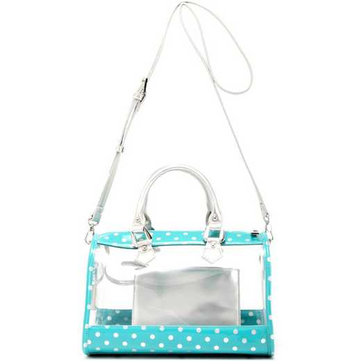 H160426-11-TUR-S: Moniqua Clear Satchel TUR-S