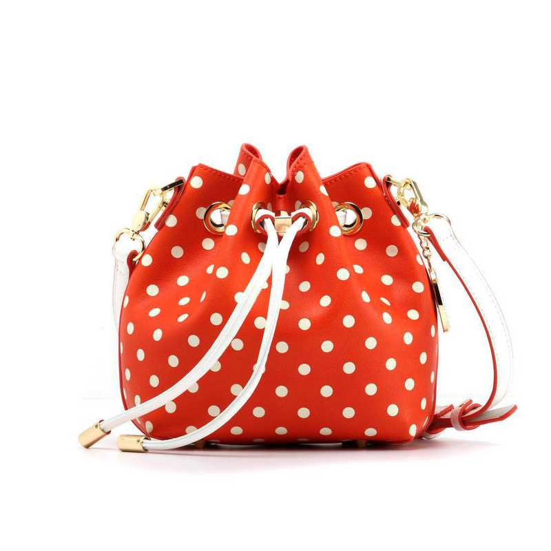 H150330-13-OR-W: Sarah Jean Small Polka Dot-OR-W