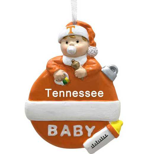 BFO026: Tennessee VOLUNTEERS 2.5IN X 3.25IN BABYS  FIRST XMAS orn