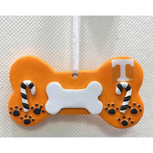 DBO026: Tennessee VOLUNTEERS 3.2IN X 2IN DOG BONE  orn