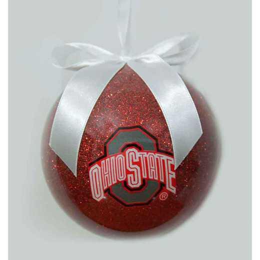 GBO021: Ohio State 4IN FOAM GLITTER BALL orn