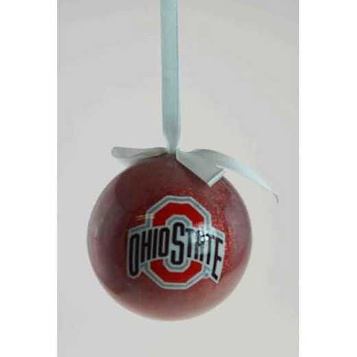 GBS021: Ohio State 3IN FOAM SMALL GLITTER BALL
