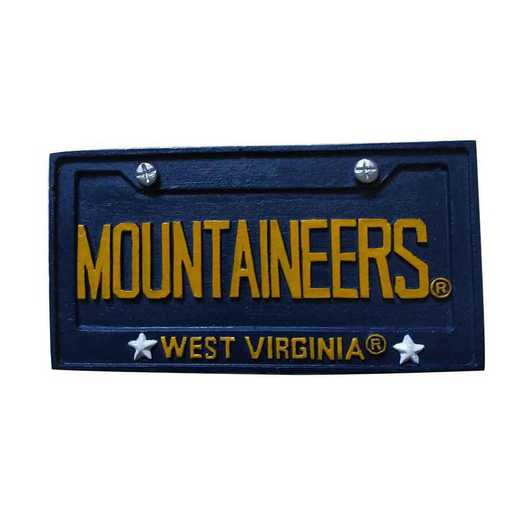 LPO065: West Virginia MOUNTAINEERS LICENSE PLATE orn
