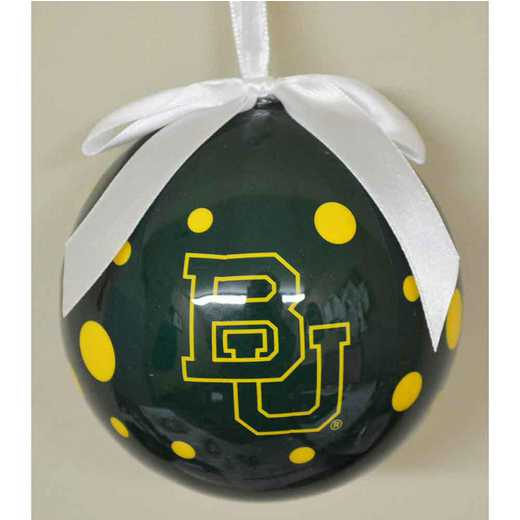PBO004: BAYLOR 4IN STYROFOAM POLKA DOT BALL orn