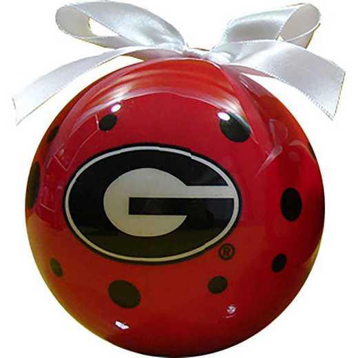 PBO009: Georgia 4IN STYROFOAM POLKA DOT BALL orn
