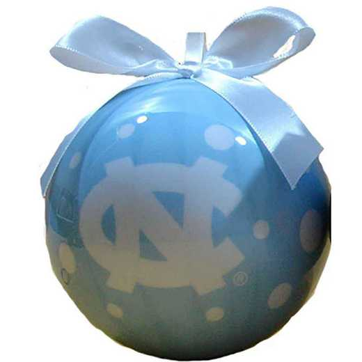 PBO019: UNC 4IN STYROFOAM POLKA DOT BALL orn