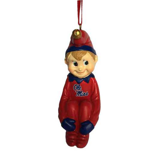 PXO024: OLE MISS PIXIE 3.5IN RESIN ORN