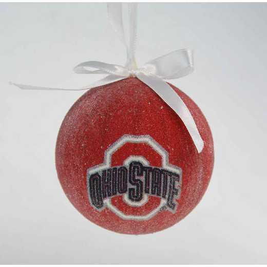 SBO021: Ohio State 3IN STYROFOAM BALL orn