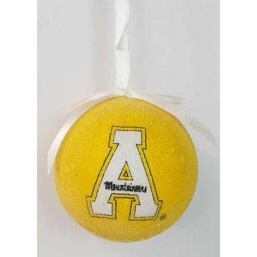 SBO102: Appalachian State 3IN STYROFOAM BALL orn