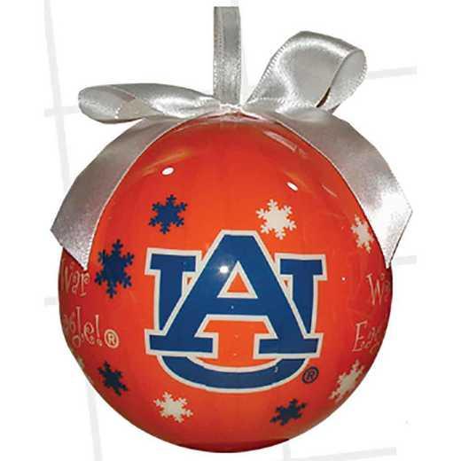 SFO003: Auburn SNOWFLAKE BALL orn