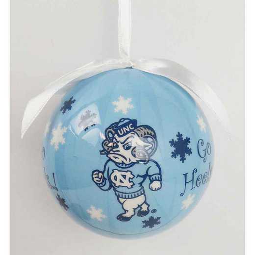SFO019: UNC SNOWFLAKE BALL orn