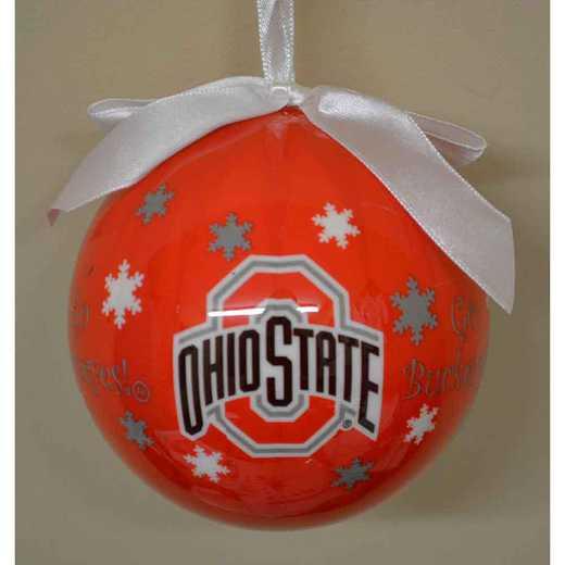 SFO021: Ohio State SNOWFLAKE BALL orn