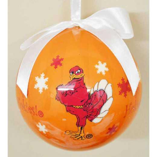 SFO062: Virginia TechSNOWFLAKE BALL orn
