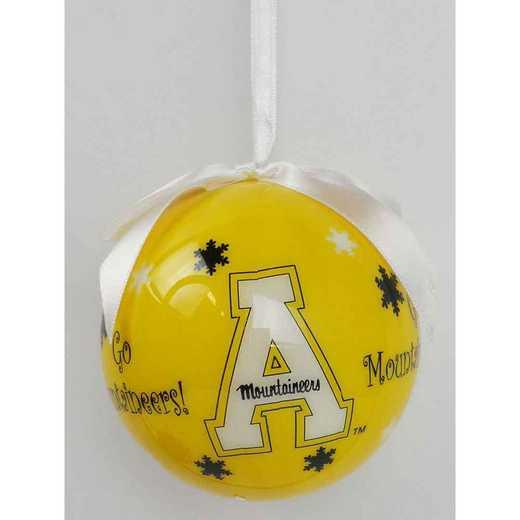 SFO102: Appalachian State SNOWFLAKE BALL orn