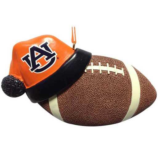 SHO003: Auburn 4.5IN SANTA HAT W/FOOTBALL ORN.