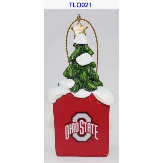 TLO021: Ohio State BUCKEYES 3IN RESIN  TREE LOGO orn