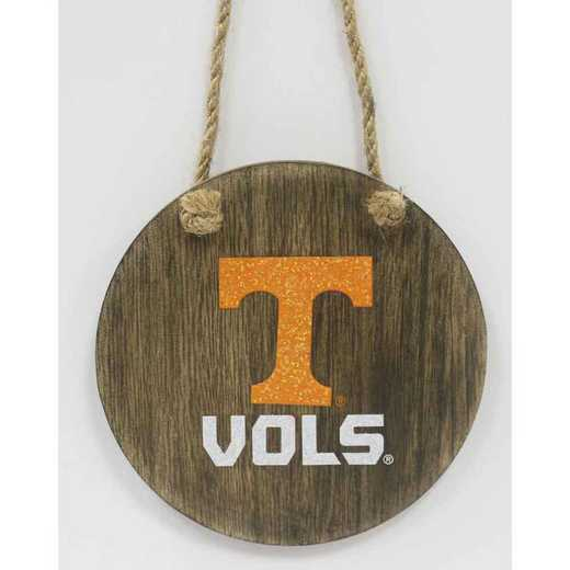WMO026: Tennessee VOLUNTEERS 4IN MDFMASCOT DISC orn