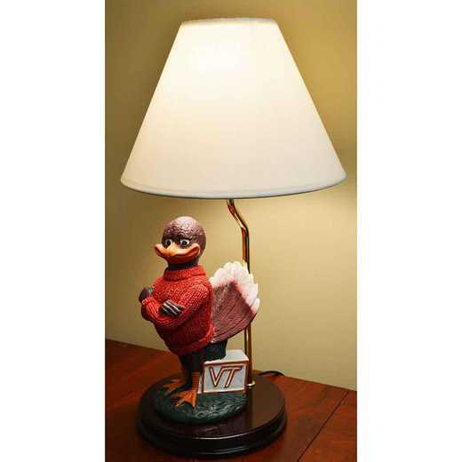 PML062: VIRGINIA TECH17.5IN RESIN PAINTED MASCOT LAMP