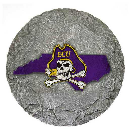 SMS039: ECU PIRATES 13IN RESIN STATE MAP STEPPING STONE