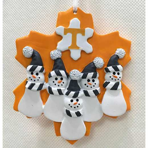 FFO026: TENNESSEE VOLUNTEERS FAMILY FIVE SNOWMAN   ORNAMENT