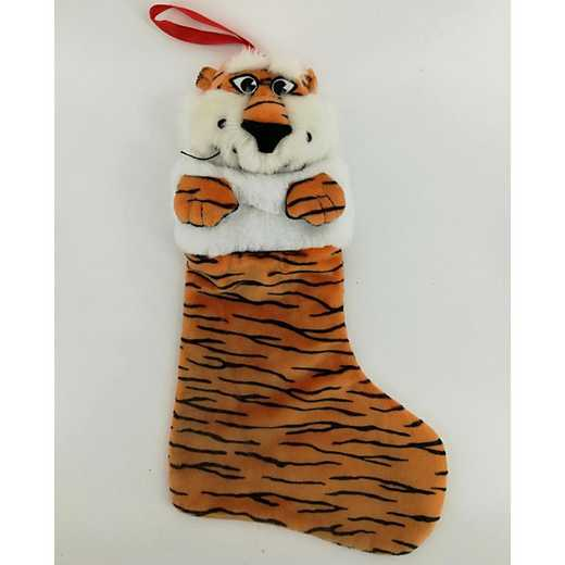 STK003: AUBURN TIGERSPLUSH MASCOT CHRISTMAS STOCKING