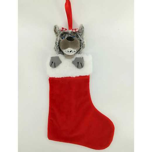 STK020M: NC STATE MRS WUF PLUSH MASCOT CHRISTMAS STOCKING