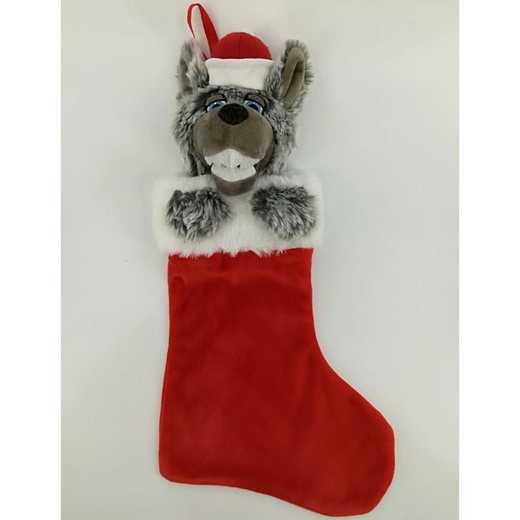 STK020: NC STATE MR WUF PLUSH MASCOT CHRISTMAS STOCKING