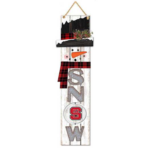 WSS020: NC STATE WOLFPACK 11IN X 41.25IN MDF WALL  SNOWMAN SIGN