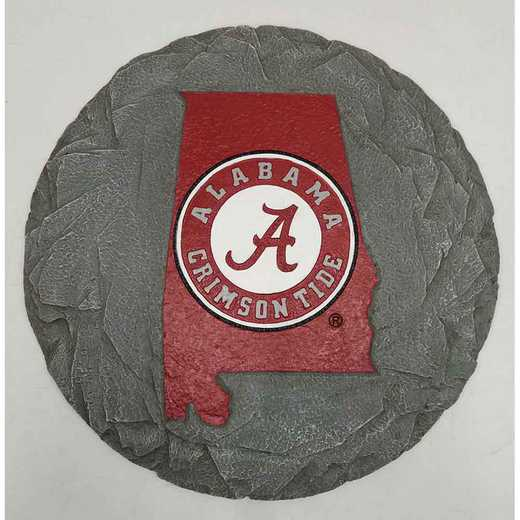 SMS001: ALABAMA CRIMSON TIDE 13IN RESIN STATE MAP STEPPING STONE