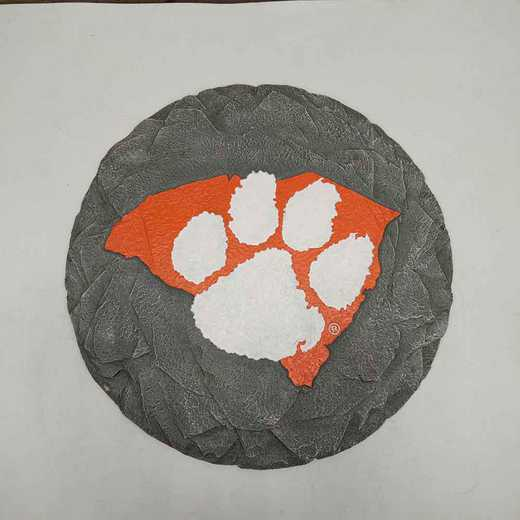 SMS005: CLEMSON TIGERS 13IN RESIN STATE MAP STEPPING STONE