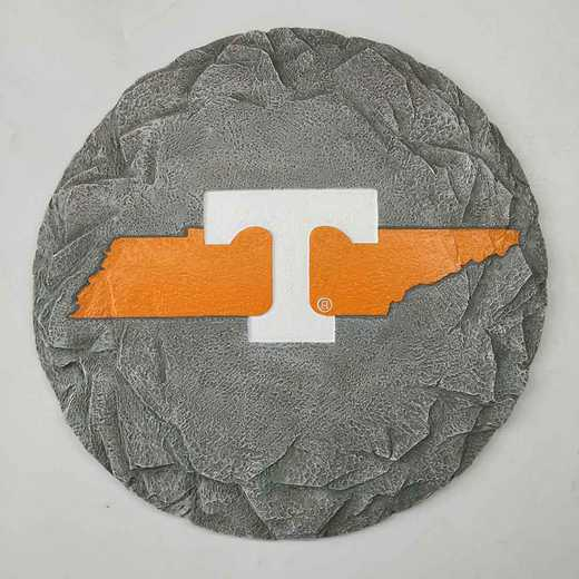 SMS026: TENNESSEE VOLUNTEERS 13IN RESIN STATE MAP STEPPING STONE