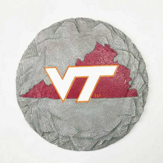 SMS062: VIRGINIA TECHHOKIES 13IN RESIN STATE MAP STEPPING STONE