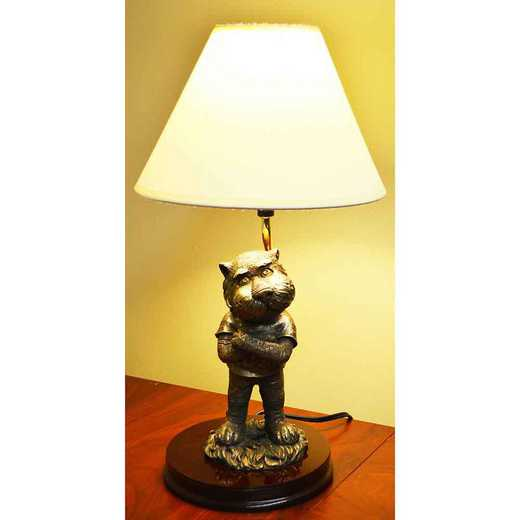 BML003: AUBURN 17IN RESIN BRONZE MASCOT LAMP