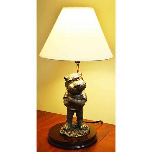 BML003: AUBURN 17IN RESIN BRONZE MASCOT LAMP