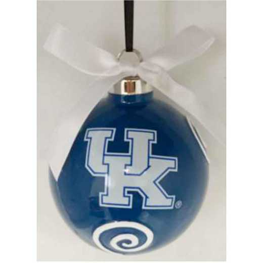 CBO012: KENTUCKY WILDCATS 3.5IN CERAMIC LOGO ORNAMENT