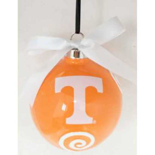 CBO026: TENNESSEE VOLUNTEERS 3.5IN CERAMIC LOGO ORNAMENT